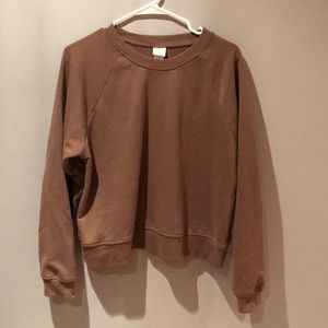 🆕 H&M Basic, Brown Crewneck Pullover 🍂